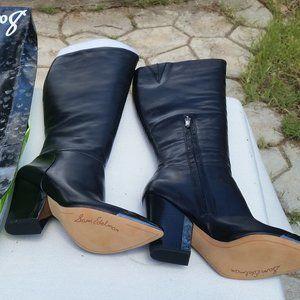 Sam Edelman Boots Maureen Black Metal Toe 6-1/2 M